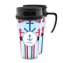 Anchors & Stripes Acrylic Travel Mugs (Personalized)