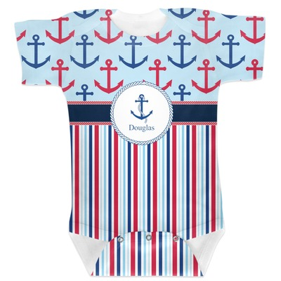 Anchors & Stripes Baby Bodysuit (Personalized)