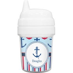 Anchors & Stripes Baby Sippy Cup (Personalized)
