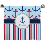Anchors & Stripes Full Print Bath Towel (Personalized)