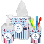 Anchors & Stripes Bathroom Accessories Set (Personalized)