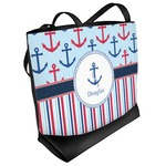 Anchors & Stripes Beach Tote Bag (Personalized)