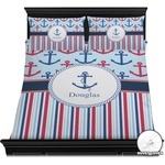 Anchors & Stripes Duvet Cover Set (Personalized)