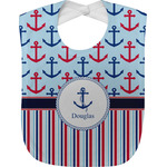 Anchors & Stripes Baby Bib (Personalized)