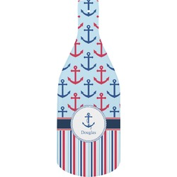 Anchors & Stripes Bottle Shaped Cutting Board (Personalized)
