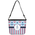 Anchors & Stripes Bucket Bag w/ Genuine Leather Trim (Personalized)
