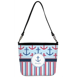 Personalized 2 Sizes Anchors /& Argyle Cross Body Bag