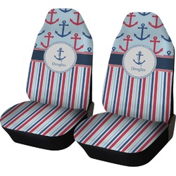 Anchors & Stripes Car Seat Covers (Set of Two) (Personalized)