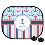 Anchors & Stripes Car Side Window Sun Shade (Personalized)
