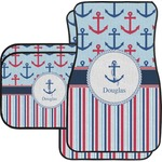 Anchors & Stripes Car Floor Mats (Personalized)