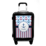 Anchors & Stripes Carry On Hard Shell Suitcase (Personalized)