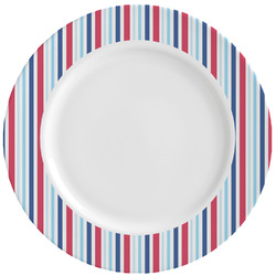 Anchors & Stripes Ceramic Dinner Plates (Set of 4) (Personalized)