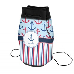 Anchors & Stripes Neoprene Drawstring Backpack (Personalized)