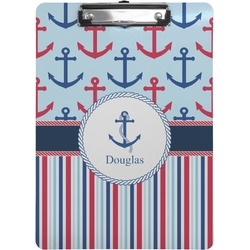 Anchors & Stripes Clipboard (Personalized)