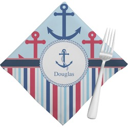 Anchors & Stripes Napkins (Set of 4) (Personalized)