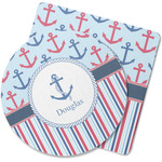 Anchors & Stripes Rubber Backed Coaster (Personalized)
