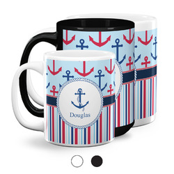 Anchors & Stripes Coffee Mugs (Personalized)