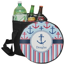 Anchors & Stripes Collapsible Cooler & Seat (Personalized)