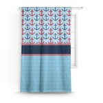 Anchors & Stripes Curtain (Personalized)