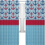 Anchors & Stripes Curtains (2 Panels Per Set) (Personalized)