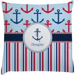 Anchors & Stripes Decorative Pillow Case (Personalized)