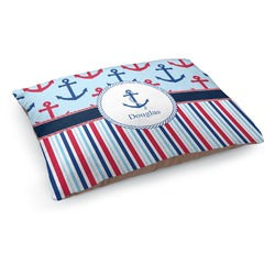 Anchors & Stripes Dog Pillow Bed (Personalized)