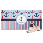 Anchors & Stripes Dog Towel (Personalized)