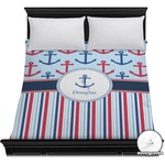 Anchors & Stripes Duvet Cover (Personalized)