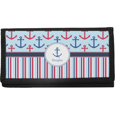 Anchors & Stripes Canvas Checkbook Cover (Personalized)
