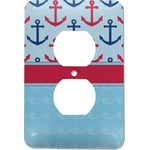 Anchors & Stripes Electric Outlet Plate (Personalized)