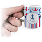 Anchors & Stripes Espresso Cups (Personalized)