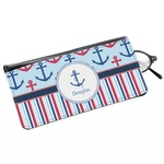 Anchors & Stripes Genuine Leather Eyeglass Case (Personalized)