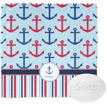 Anchors & Stripes Wash Cloth (Personalized)