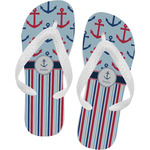 Anchors & Stripes Flip Flops (Personalized)