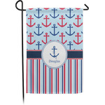 Anchors & Stripes Garden Flag - Single or Double Sided (Personalized)