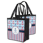 Anchors & Stripes Grocery Bag (Personalized)