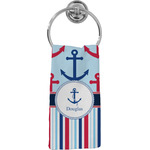 Anchors & Stripes Hand Towel - Full Print (Personalized)
