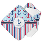 Anchors & Stripes Hooded Baby Towel (Personalized)