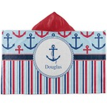 Anchors & Stripes Kids Hooded Towel (Personalized)