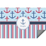 Anchors & Stripes Indoor / Outdoor Rug (Personalized)