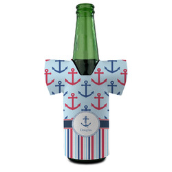 Anchors & Stripes Bottle Cooler (Personalized)