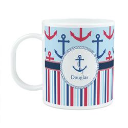 Anchors & Stripes Plastic Kids Mug (Personalized)