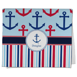 Anchors & Stripes Kitchen Towel - Full Print (Personalized)