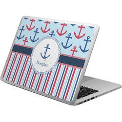 Anchors & Stripes Laptop Skin - Custom Sized (Personalized)