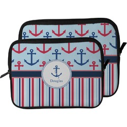 Anchors & Stripes Laptop Sleeve / Case (Personalized)