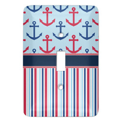 Anchors & Stripes Light Switch Covers - Multiple Toggle Options Available (Personalized)