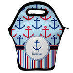 Anchors & Stripes Lunch Bag w/ Name or Text