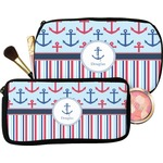 Anchors & Stripes Makeup / Cosmetic Bag (Personalized)