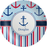 Anchors & Stripes Melamine Plate (Personalized)