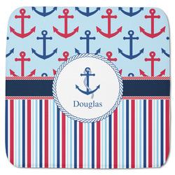 "Anchors & Stripes Memory Foam Bath Mat - 48""x48"" (Personalized)"